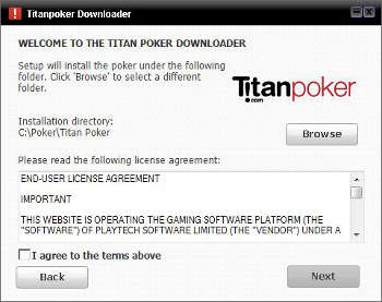 online poker software license