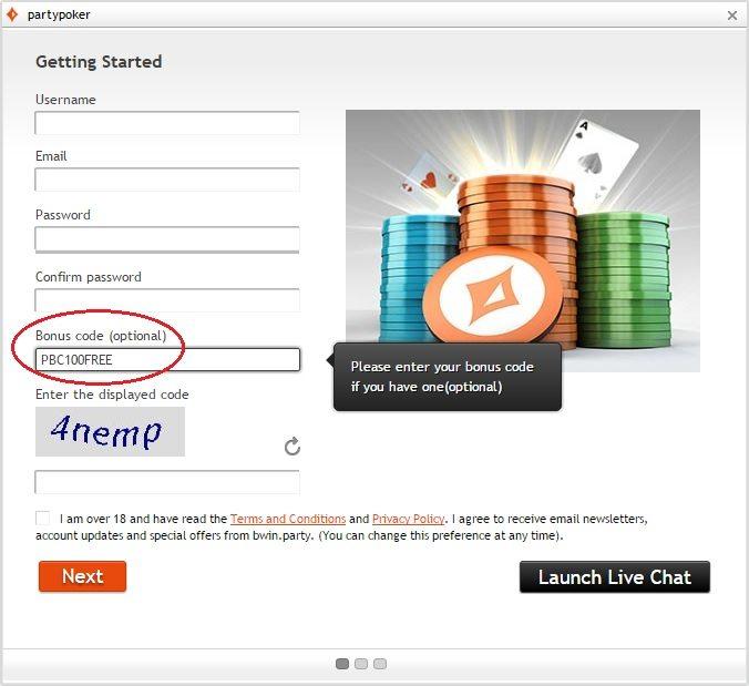 Party Poker Bonus Code