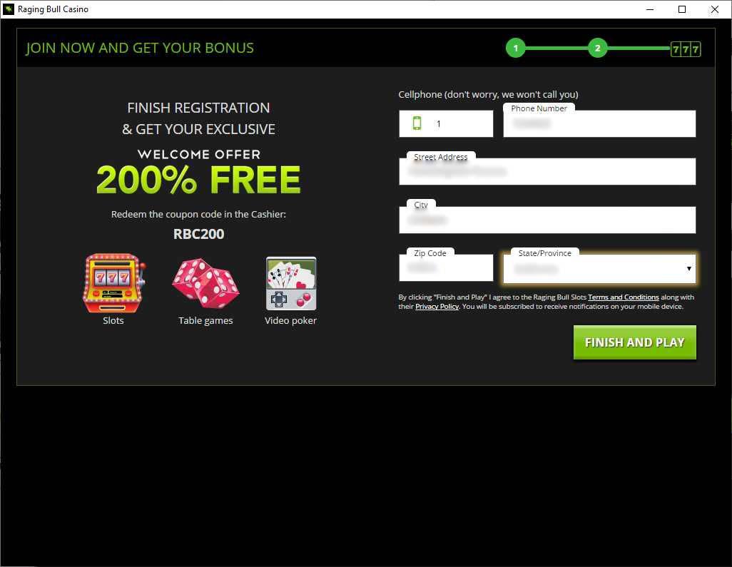 Raging Bull Casino Download