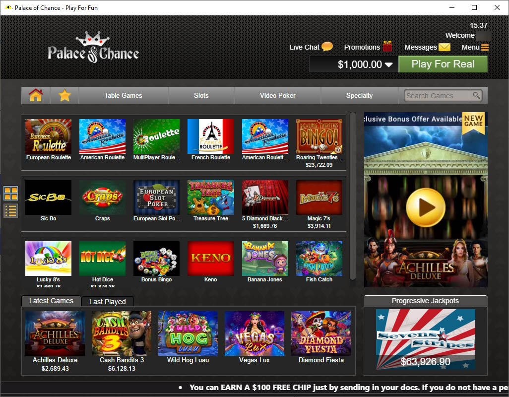 Palace Of Chance Casino Download