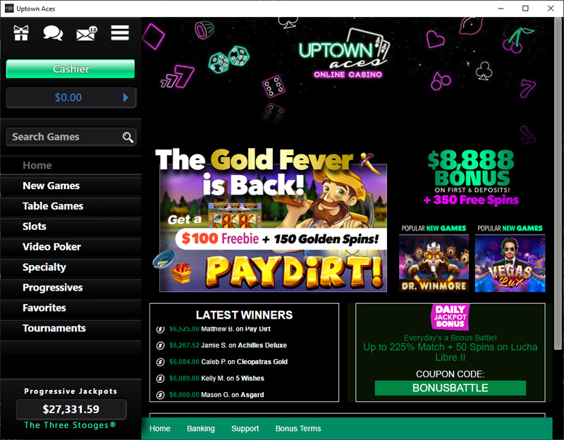 Uptown Aces Login
